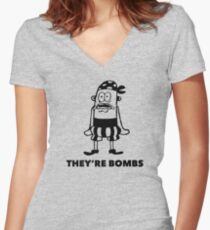 They're Bombs Women's Fitted V-Neck T-Shirt