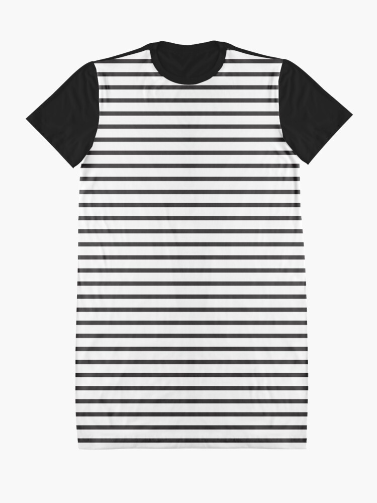 Alternate view of Basic Horizontal Stripes Graphic T-Shirt Dress