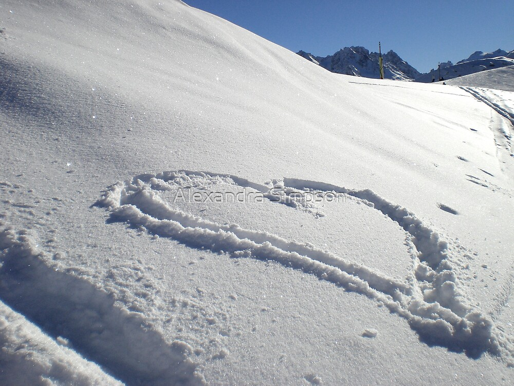 I Love Snow by Alex Simpson