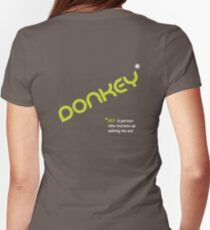 Date T Shirt - Donkey with white definition Womens Fitted T-Shirt