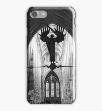 Statue of Archangel Michael at the Ulm Minster Germany iPhone Case/Skin