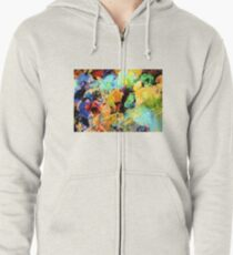 Artists Palette  Zipped Hoodie
