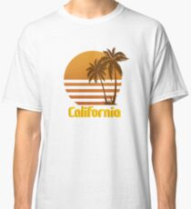 Vintage California Sunset by Willow Art Classic T-Shirt