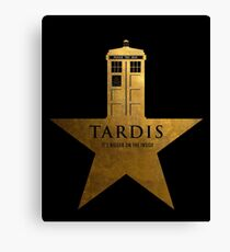 TARDIS - It's Bigger on the Inside Canvas Print