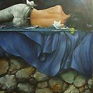Naturaleza durmiente con pequeño mar nocturno by Chelin Sanjuan