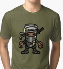 Coffee ninja or ninja coffee? - grey Tri-blend T-Shirt