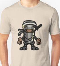 Coffee ninja or ninja coffee? - grey Unisex T-Shirt