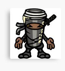Coffee ninja or ninja coffee? - grey Canvas Print
