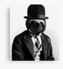Gentleman Sloth #2 Canvas Print