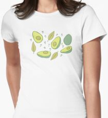Avocados Womens Fitted T-Shirt