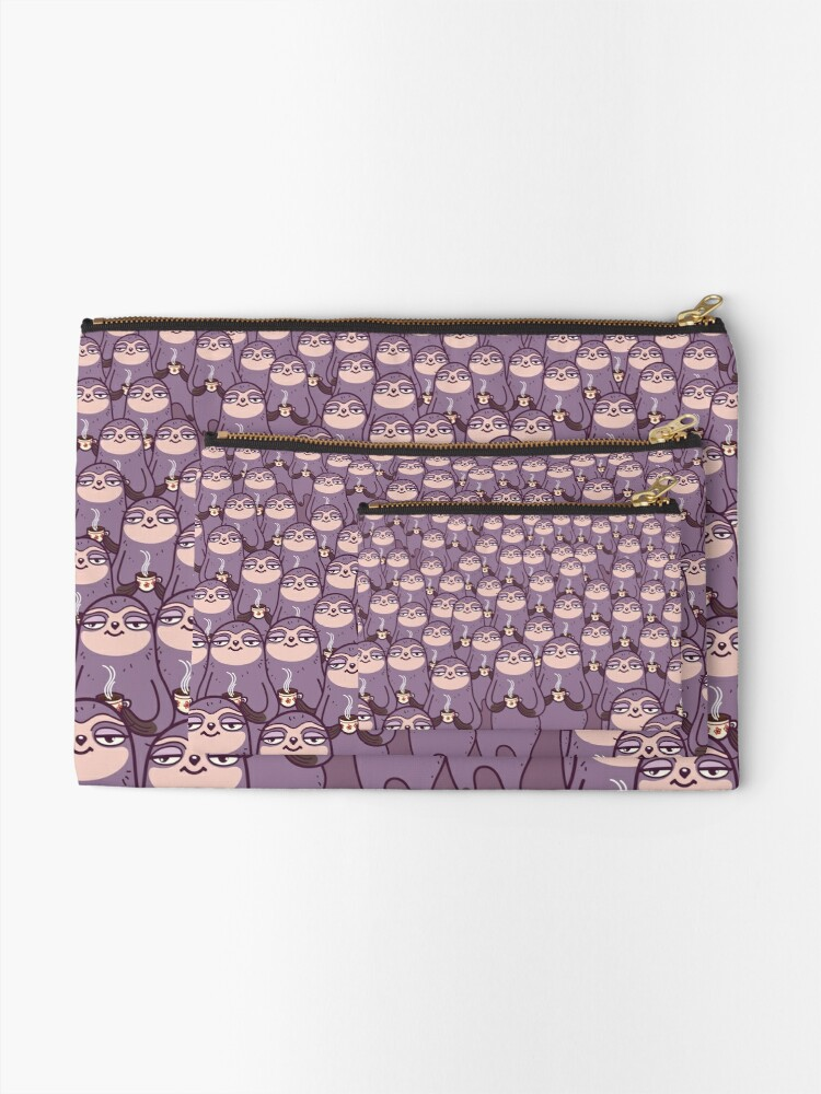 Alternate view of Sloth-tastic! Zipper Pouch