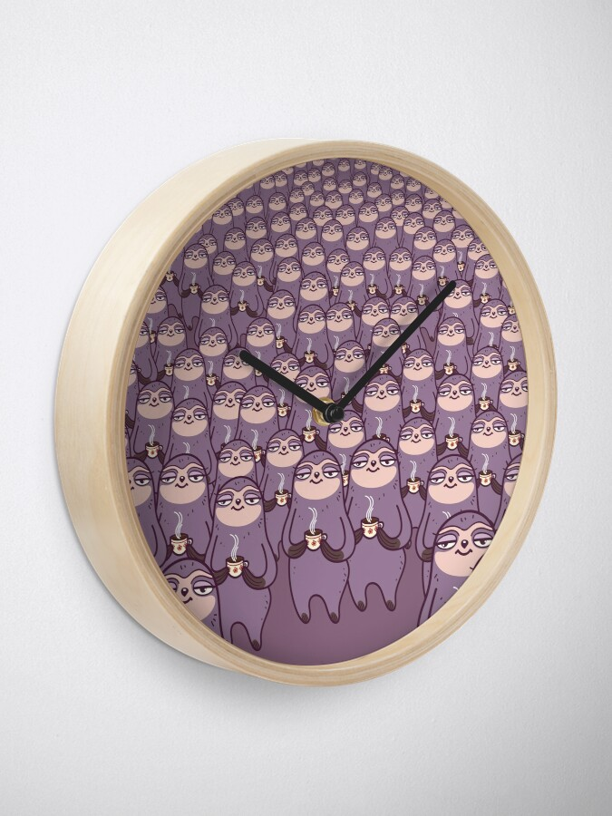 Alternate view of Sloth-tastic! Clock