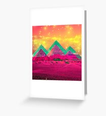 Trippy Pyramids Greeting Card