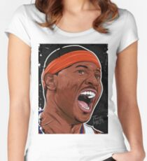 CARMELO ANTHONY - CARTOON SERIES Women's Fitted Scoop T-Shirt