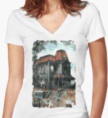 Bates Motel - Retro Women's Fitted V-Neck T-Shirt