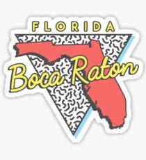 Boca Raton Florida Retro Souvenir Sticker