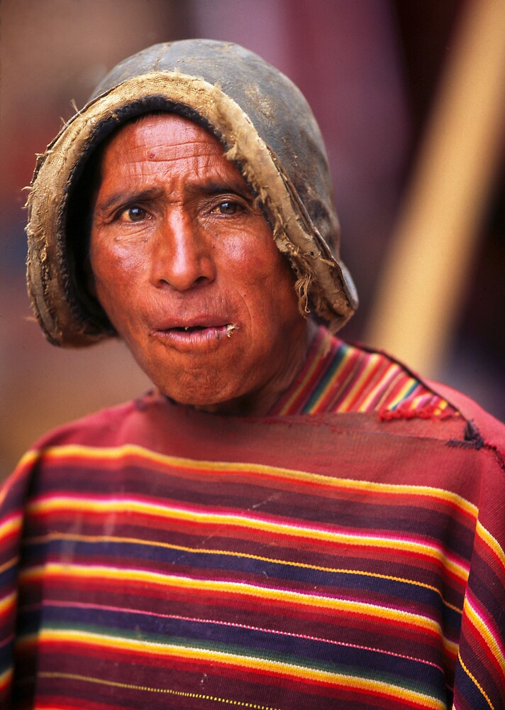 Chewing the Coca leaf, Bolivia by Phillip  McCordall