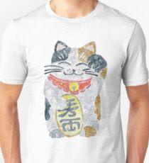 Lucky Cat Maneni Neko Watercolor  Unisex T-Shirt