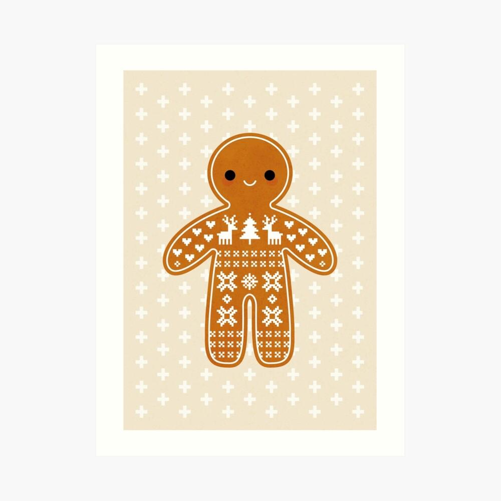 Strickjacke-Muster-Lebkuchen-Plätzchen Kunstdruck
