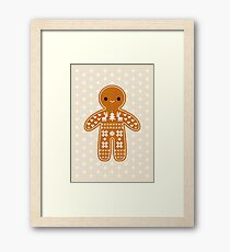 Sweater Pattern Gingerbread Cookie Framed Print