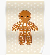 Sweater Pattern Gingerbread Cookie Poster
