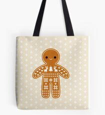 Sweater Pattern Gingerbread Cookie Tote Bag