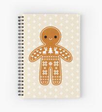 Cuaderno de espiral Patrón de suéter Galleta de jengibre