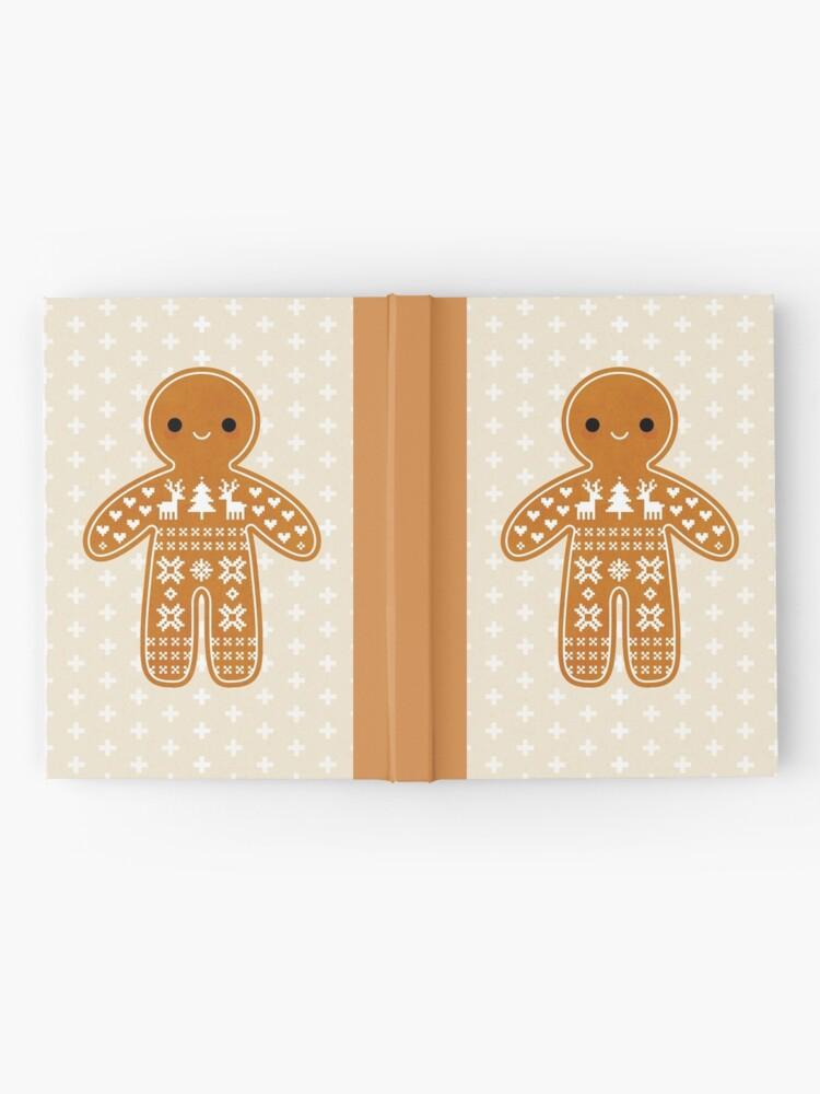 Alternative Ansicht von Strickjacke-Muster-Lebkuchen-Plätzchen Notizbuch