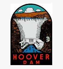 Hoover Dam Vintage Travel Decal Photographic Print