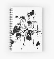 """Without Doubt"" Couple in love - ink drawing Spiral Notebook"