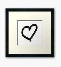 Hand Lettered Heart Symbol / Icon - Brush Style Font Framed Print