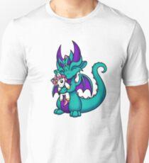 Drache mit Einhorn Plushie Unisex T-Shirt