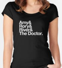 Amy & Rory & River & The Doctor. Women's Fitted Scoop T-Shirt