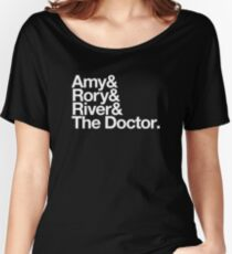 Amy & Rory & River & The Doctor. Women's Relaxed Fit T-Shirt