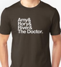 Amy & Rory & River & The Doctor. Unisex T-Shirt