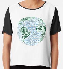 Blusa Protect Earth - Palabras verdes azules para la tierra