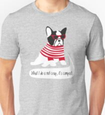Hipster French bulldog T-Shirt