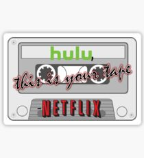 Hulul This Is Your Tape Netflix (Tweet Inspired) Sticker