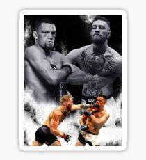 Conor McGregor vs Nate Diaz.  Sticker
