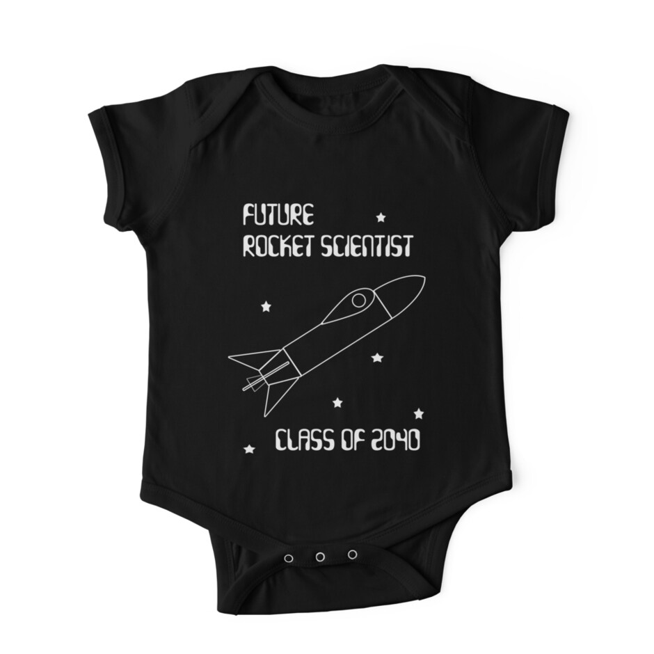 """Future Rocket Scientist -- Class of 2040"" One Piece ..."
