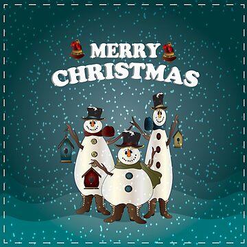 Winter Snowmen by DonnaSiggy