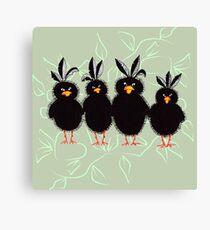 Bristly Birds Canvas Print