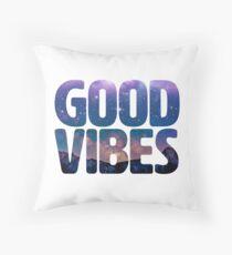 Good Vibes Galaxy Throw Pillow
