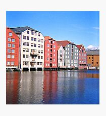 Norway - Trondheim Waterfront - Diana F+ Medium Format Photograph  Photographic Print