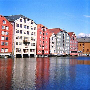 Norway - Trondheim Waterfront - Diana F+ Medium Format Photograph  by ztrnorge