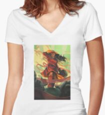 Where on Earth is... Women's Fitted V-Neck T-Shirt