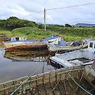 Milk Harbour In The Shadow Of Muckish by Fara