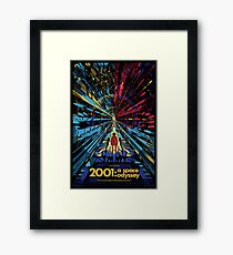 2001 A Space Odyssey - Movie Poster Framed Print