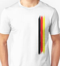 German flag colors stripes Unisex T-Shirt