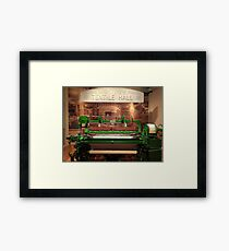 Textile Hall Framed Print